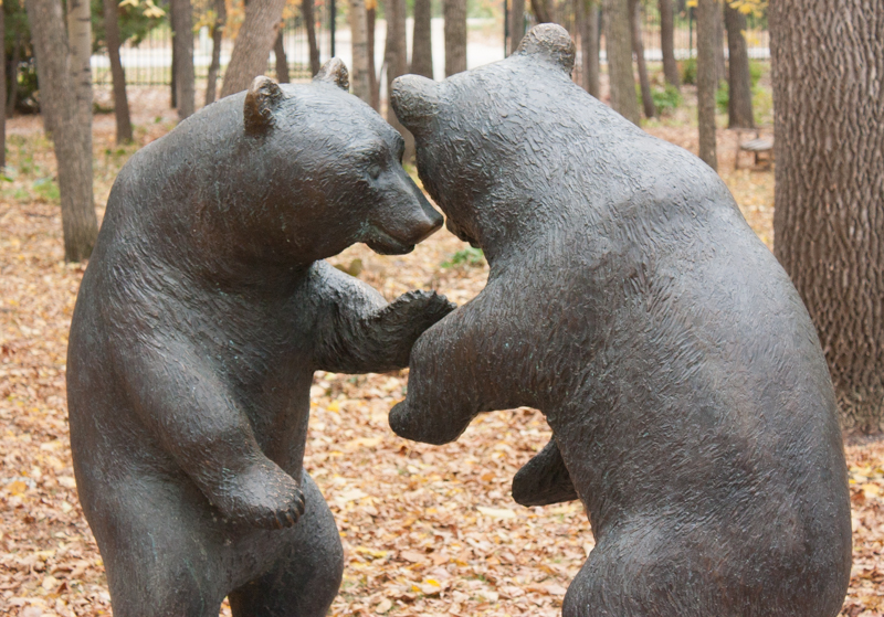 Assiniboine Park sculpture garden
