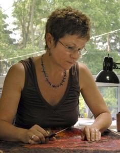 Lorraine in her Studio