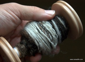 Spun from Chassagne roving