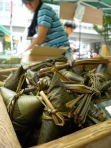 Nippori market: fresh chimaki mochi