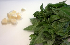 Basil and garlic