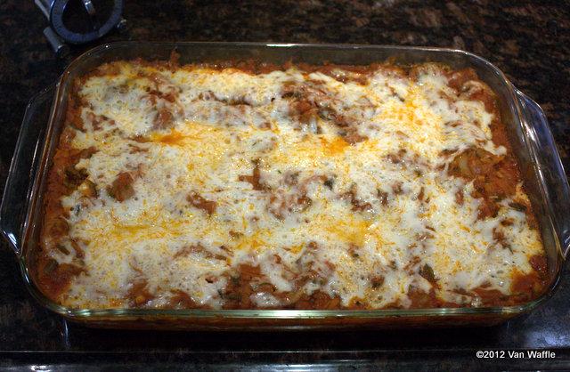 Nona's vegetarian lasagna