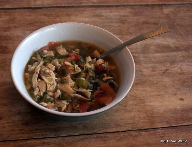 Tomato chicken soup Provencal