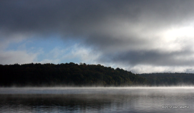View from the dock on a September morning