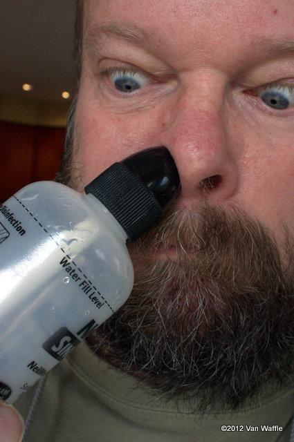 Using sinus rinse