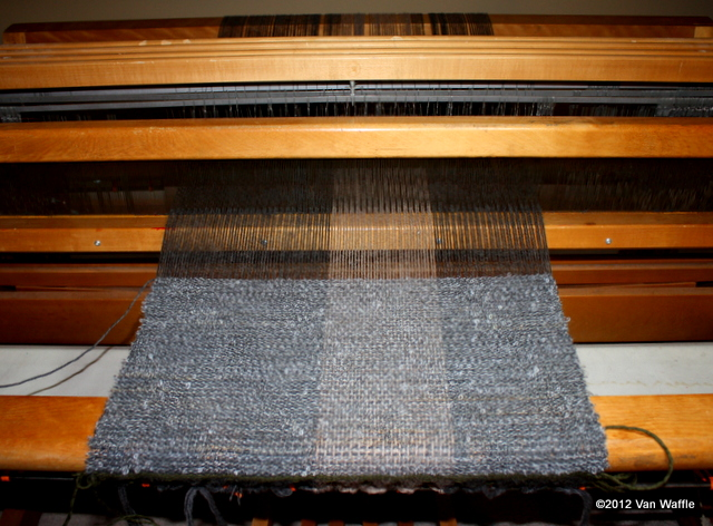 New weaving project on the loom
