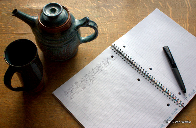 My morning ritual: tea and journal