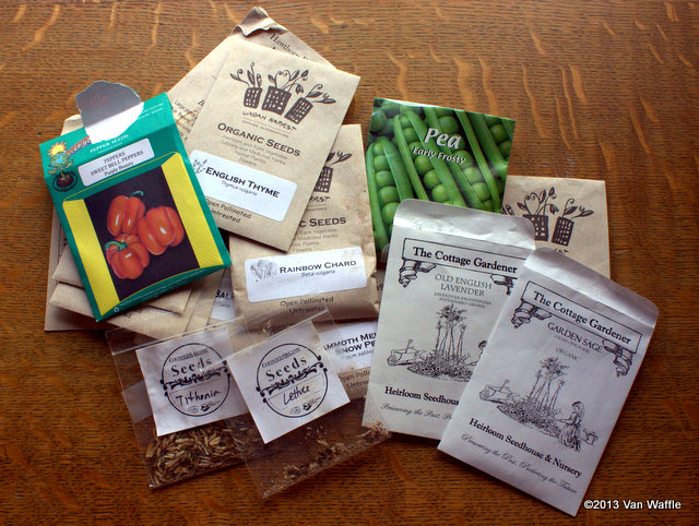 last year's seed packets