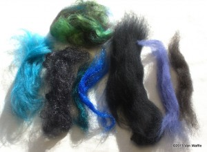 Fibre for Nicobar feather shawl