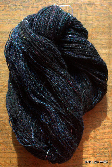 Skein of yarn for Nicobar pigeon shawl