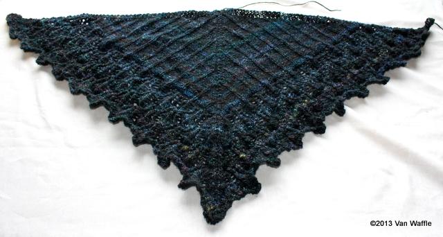 Unblocked Nicobar pigeon shawl