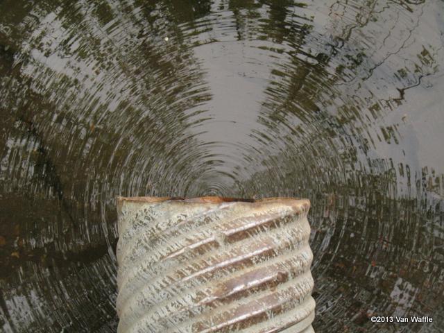 Eramosa River drain and reflections