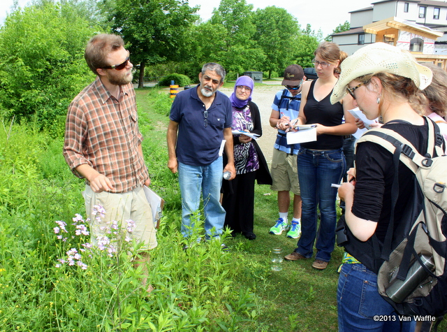 Scott Reid guides a workshop in edible and medicinal wild plants