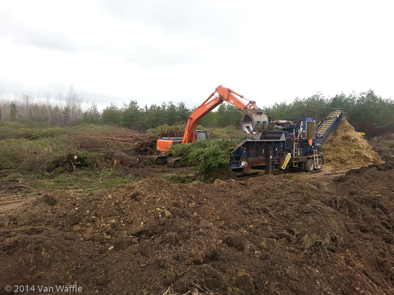 Clearing trees for a condo