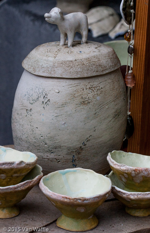 The Potters' Market 2015 fox pot